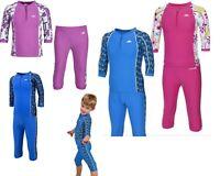 TRESPASS KIDS BOYS GIRLS SUN PROTECTION 40+UV RASH VEST+SHORTS SWIMMING SET SUIT