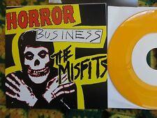 "Misfits- Horror Business 7"" YELLOW vinyl NM+ RARE! (Danzig Samhain,Necros,Punk)"