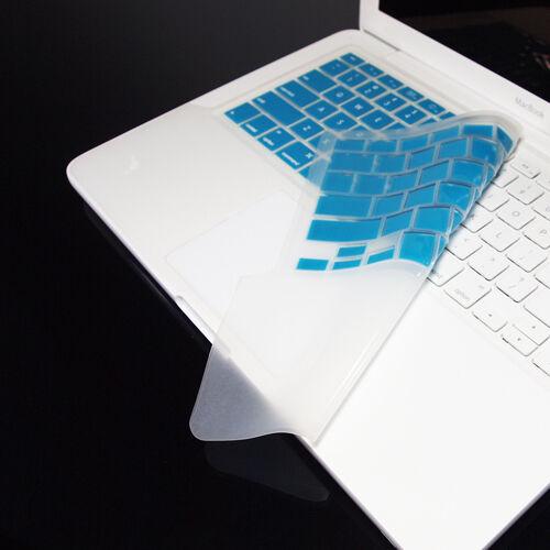 """FULL AQUA Keyboard Skin Cover Case for Macbook White 13/"""""""