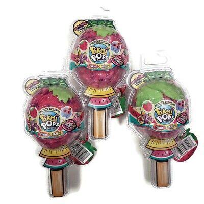 Lot of 3 Pikmi Pops Pikmi Flips Scented Plush Surprise Fruit Fiesta Series