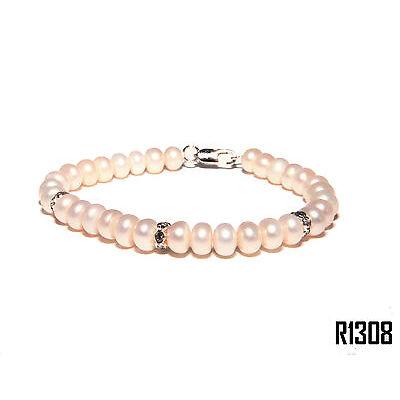 Echt Süßwasser Zucht Perlenkette Armband Armkette Armreifen 18cm R1308