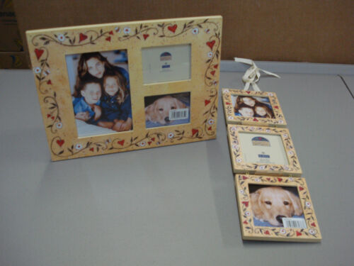 NIB Burnes Of Boston Winget Collage Picture Frame /& Winget Hanging Triple  #65C