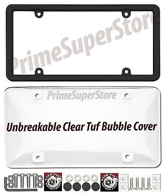 Cruiser Accessories 62510 Ultimate Tuf Combo License Plate Shield//Cover Black//Clear