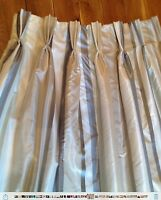 Mtm Curtains In Laura Ashley Discontinued Caspian Smoke Stripe Silk Blend