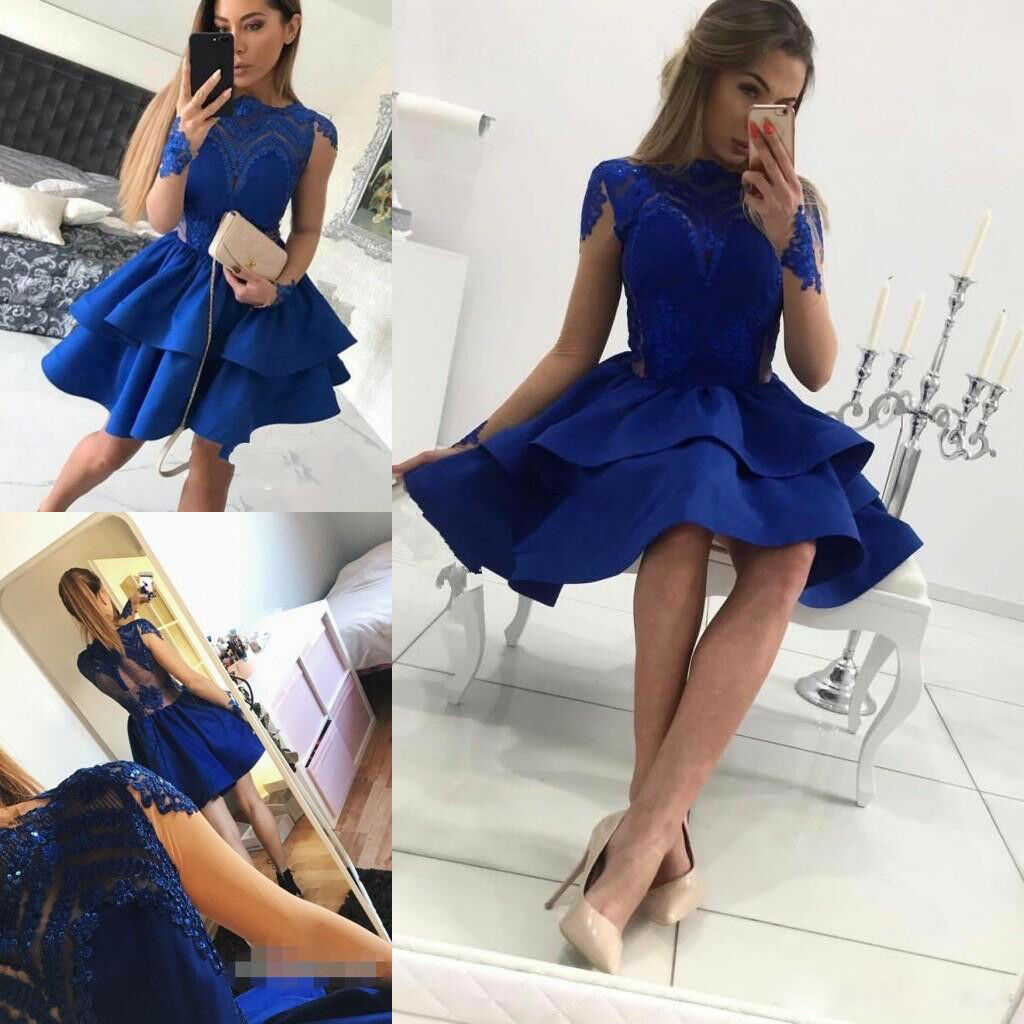 Royal Blau Formal Homecoming Dress Prom Party Ball Gown Evening Bridesmaid Short