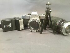 Vintage Minolta SRT101 Camera W/ F=58 mm Lens ~ L@@K ~ Comes With EXTRAS!