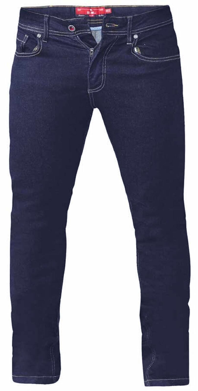 D555 Mens Big Size Tapered Fit Stretch Jeans In Indigo (Cedric)