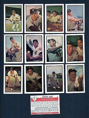 1953 Bowman Color AND Black /& White REPRINT team sets NEW YORK GIANTS