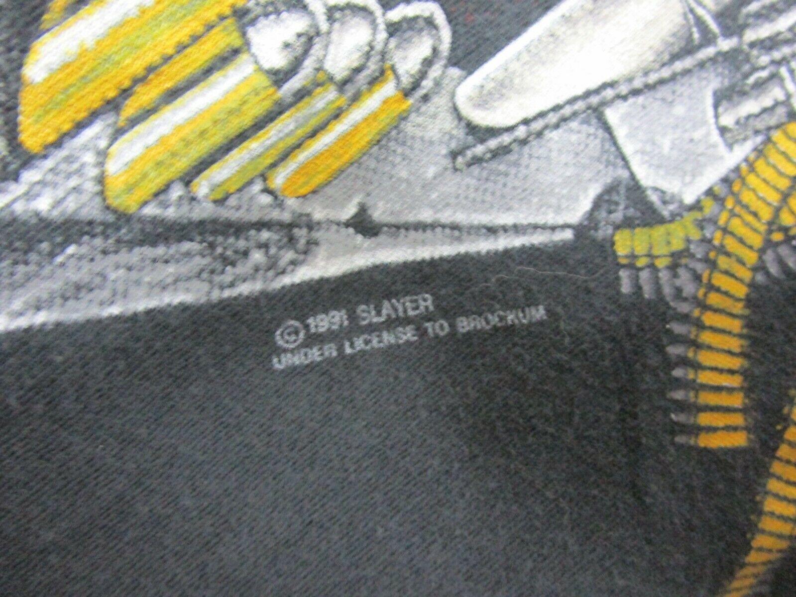 Vintage 1991 SLAYER CLASH OF THE TITANS T-SHIRT R… - image 4