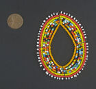 African Rainbow Oval Maasai Beaded Pendant Kenya