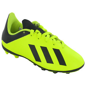 abajo Perplejo Historiador  Adidas X18.4 FxG J Football Boots Moulded Studs Junior Soccer Shoes DB2420  | eBay