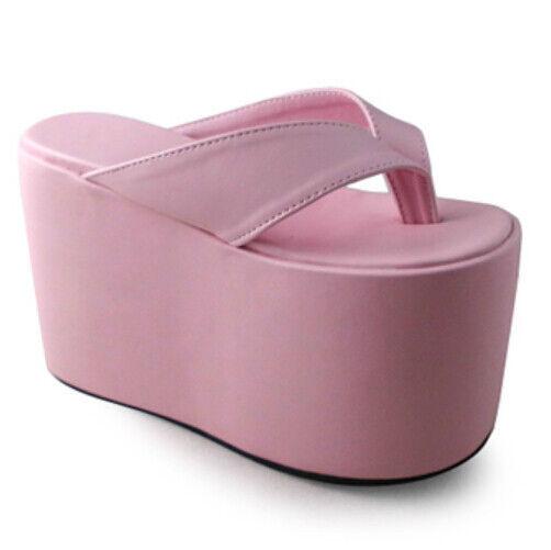 Lolita Cosplay High Platform Schuhes Sandales Flip-Flops Candy Solors 1242-12