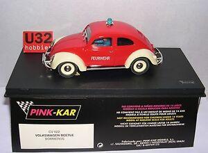 Pink-kar Cv022 Volkswagen Coccinelle Pompier Mb
