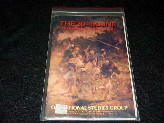 Grupo de estudios operacionales 1979  el 20th Maine-Gettysburg Little Round Top