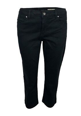 247 Esprit Ladies Tummy Control Shaping Black Cropped Crop Jeans Size 6-18