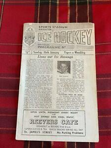 Sports Stadium Brighton Ice Hockey Programme 26/01/64