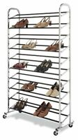 Whitmor 6060-3510 Chrome Supreme 50 Pair Shoe Rack , New, Free Shipping on sale
