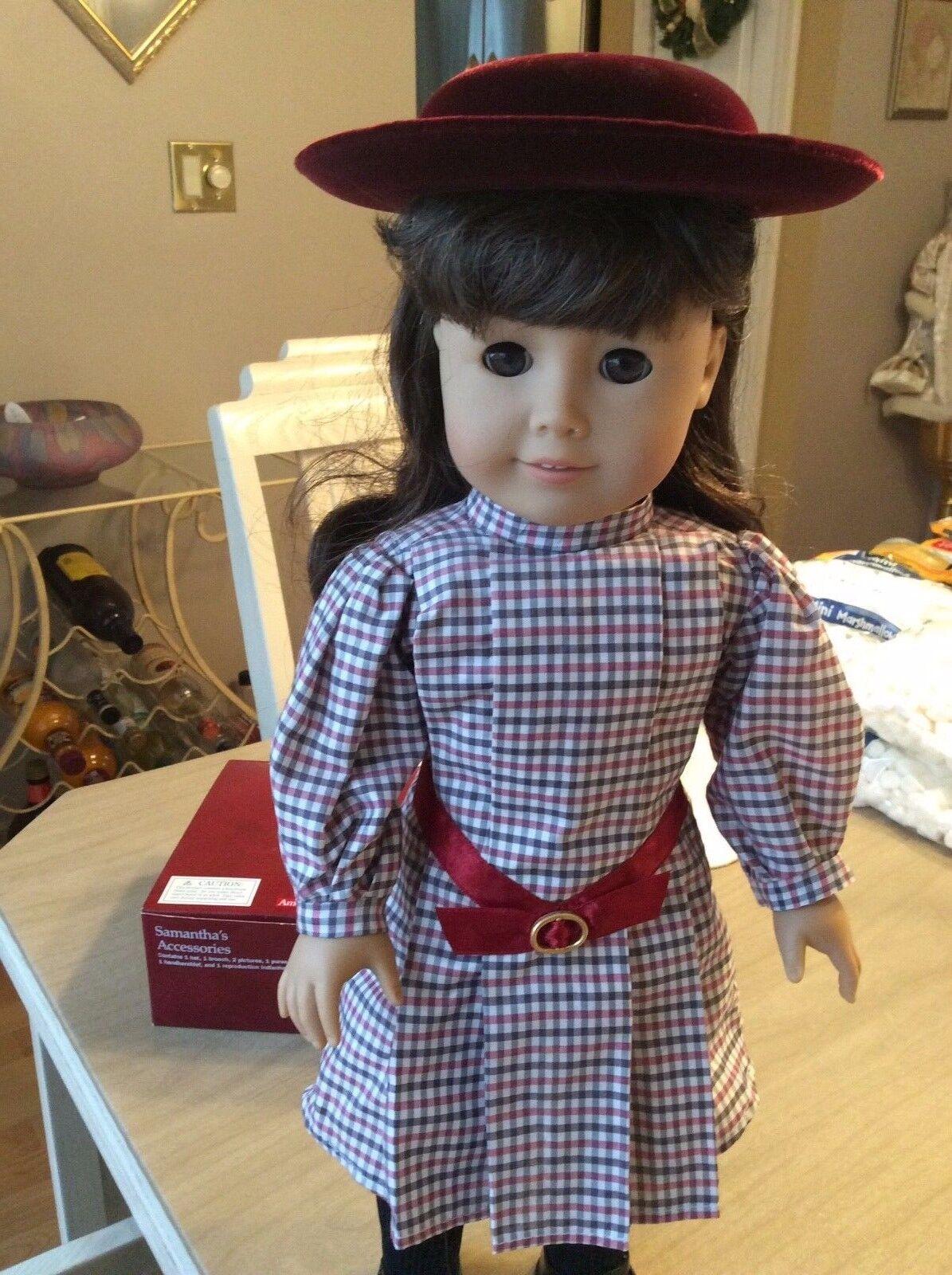 Pleasant Company American Girl Doll, Samantha Parkington, Doll with hat no box