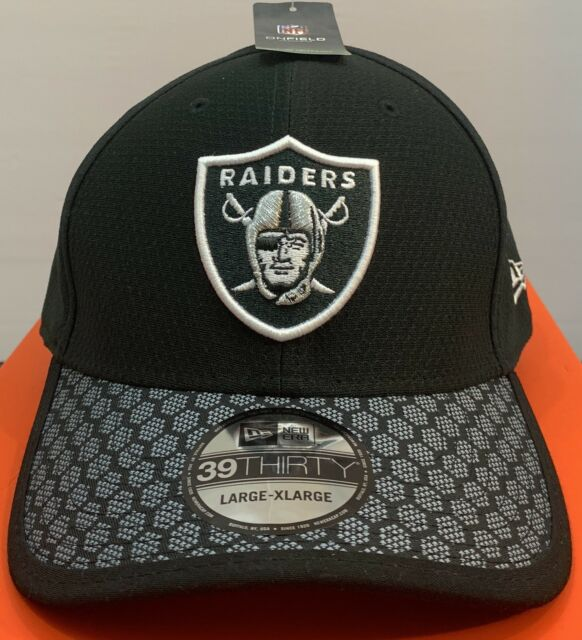 best website a86ca 28844 ... clearance oakland raiders cap new era 39thirty stretch fit on field  sideline hat size l xl
