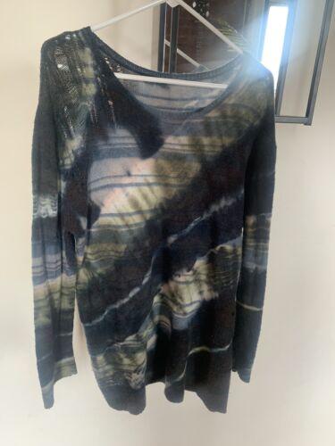 Raquel Allegra Blue Tie Dye Sweater Medium