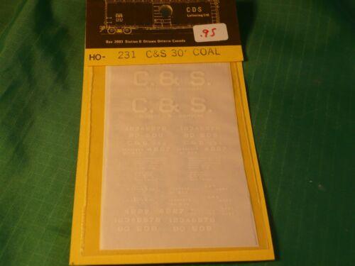 CDS Dry Transfer HO #231 COLORADO /& SOUTHERN 30/' WOOD COAL CAR