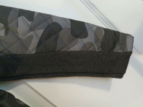 NEW OSHKOSH TODDLER BOYS GRAY BLACK CAMOUFLAGE ZIP QUILTED SWEATER JACKET $54