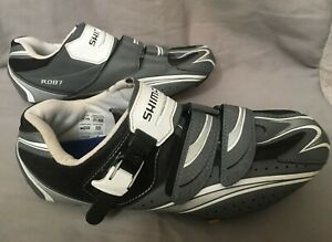 SHIMANO-SH-R087GE-Black-Gray-Mountain-Bike-MTB-Shoes-Mens-Sz-10-5-Wide