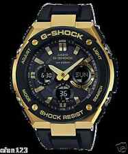 GST-S100G-1A Gold Black Men's G-shock Watches Resin Band Tough Solar Analog New