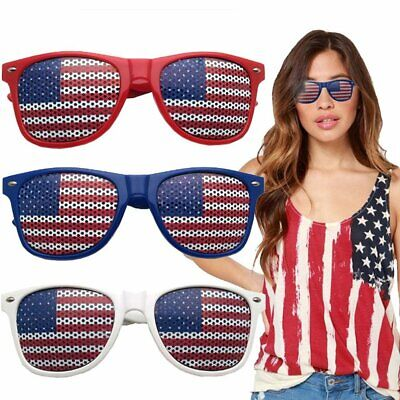 4th of July Accessories Sun Glasses Party USA Flag with Bonus Bracelet