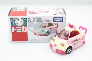 Tomica-Takara-Tomy-Disney-Motors-Minnie-Mouse-White-Valentine-Day-Toy-Car-2015