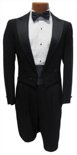 38S Black Peak Lapel Tuxedo Tailcoat Package Debutante Tails White Tie Attire