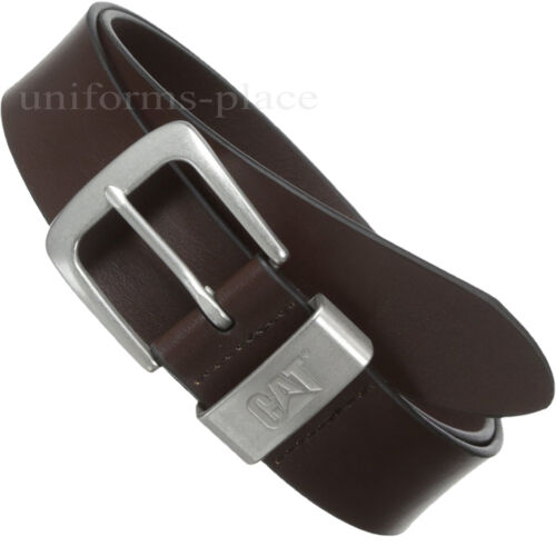 Caterpillar Leather Belt Mens 1 1//2 CAT Madison BLACK BROWN Belts Nickel Buckle