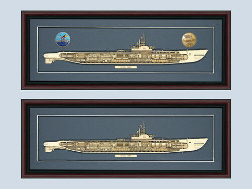 Personalized Personalized Personalized Gato SS 212 Class Submarine Cutaway Museum Quality Wood YOUR CHOICE ac444e