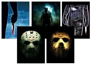 Friday-the-13th-Jason-Hockey-A5-A4-A3-Textless-Movie-Posters