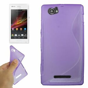 Bowl-Protective-Case-Frame-For-Sony-Xperia-M-C1904-C1905-Purple