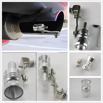 Silver Turbo Sound Whistle Muffler Exhaust Pipe Simulator Whistler For Mazda 3 5