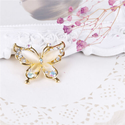 Papillon Cristal Strass Broche Pin Femme Fashion Bijoux or//plaqué argent