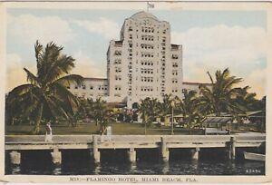 Miami-Flroida-The-Flamingo-Hotel-Vintage-1930-postcard