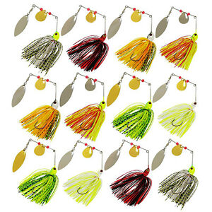 12pcs-Jigs-Head-Rubber-Fishing-Lure-Pike-Bass-Fishing-Spinner-Spoon-Baits-Tackle