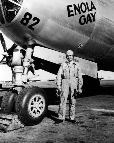 B-29 ENOLA GAY PILOT PAUL TIBBETS WWII 8x10 SILVER HALIDE PHOTO PRINT