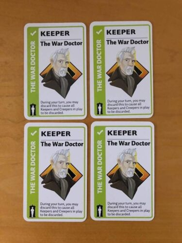 Looney Labs Fluxx The War Doctor x4 Promo Card Gen Con 2018 Keeper Doctor Who