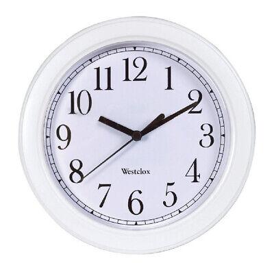 White Westclox Simplicity Wall Clock