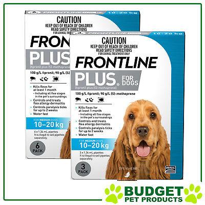 Frontline Plus For Dogs Medium 10-20kg 9 Pack