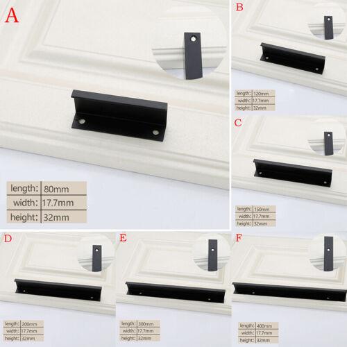 Wardrobe Cabinet Drawer Knobs Furniture Hidden Pull Handle Modern Door Knob