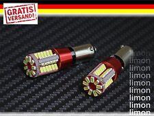 2x High Power Rücklicht Standlicht BA9S 57 SMD 3014 LED Canbus 6500K WEISS L399