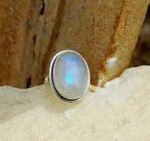 White-Rainbow-Moonstone-925-Sterling-Silver-Band-Ring-Handmade-All-Size-jk-15