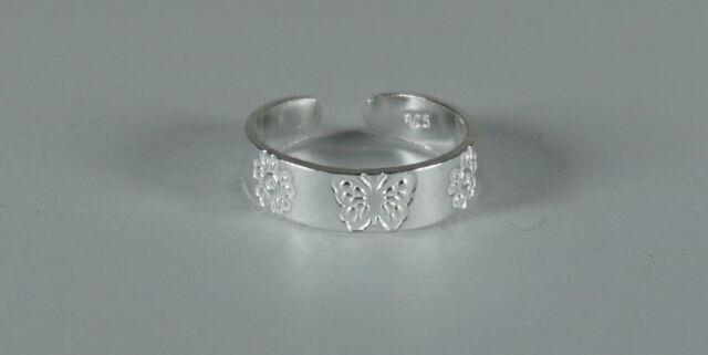 schöner Zehenring aus 925 Silber mit Stern   Handarbeit T142