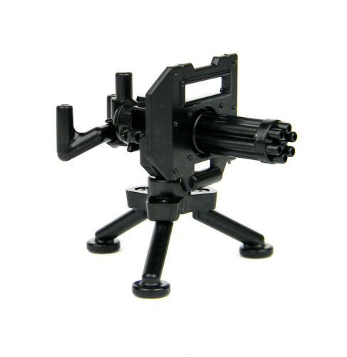 Minigun With Tripod Mount Machine Gun compatible w// toy brick minifigures W227
