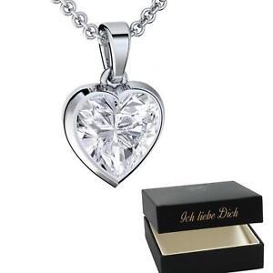 084e63aa14c3 Das Bild wird geladen Herzkette-Silber-925-Halskette-Damen-Kette-Herz -Anhaenger-