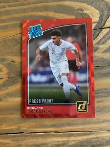 2018-19-Donruss-Red-Press-Proof-Soccer-Jadon-Sancho-England-RC-Rookie